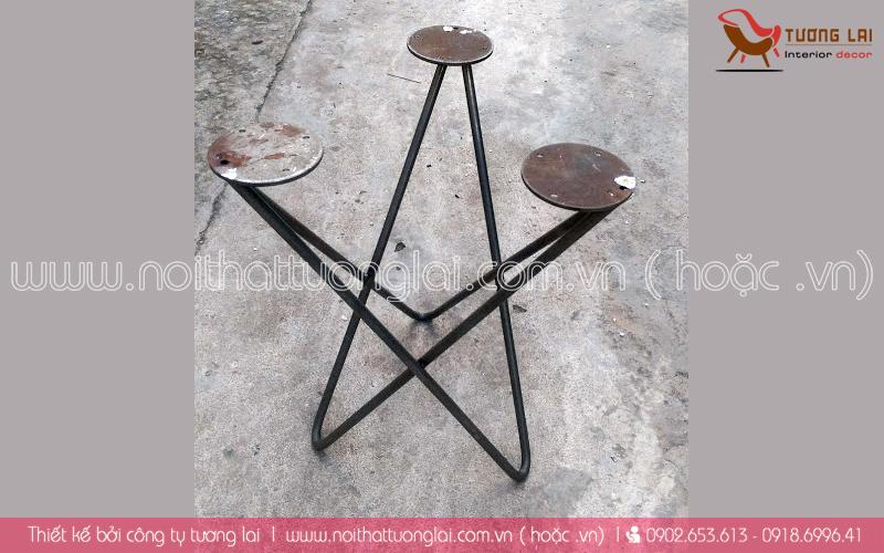 Gia công sắt-inox -chân bàn kiểu