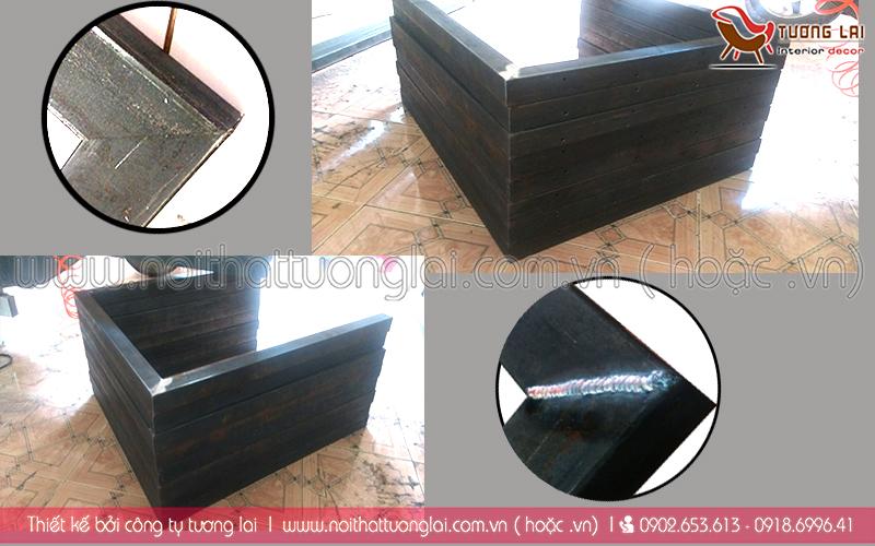 Gia công chân bàn-sắt hộp 40