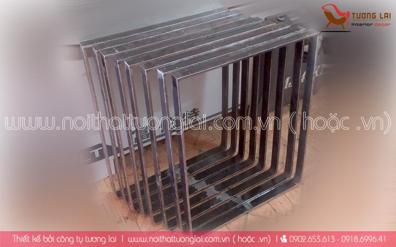 Gia công sắt-inox -chân bàn sắt la