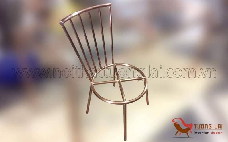 Gia công chân ghế inox mạ đồng cổ cao cấp