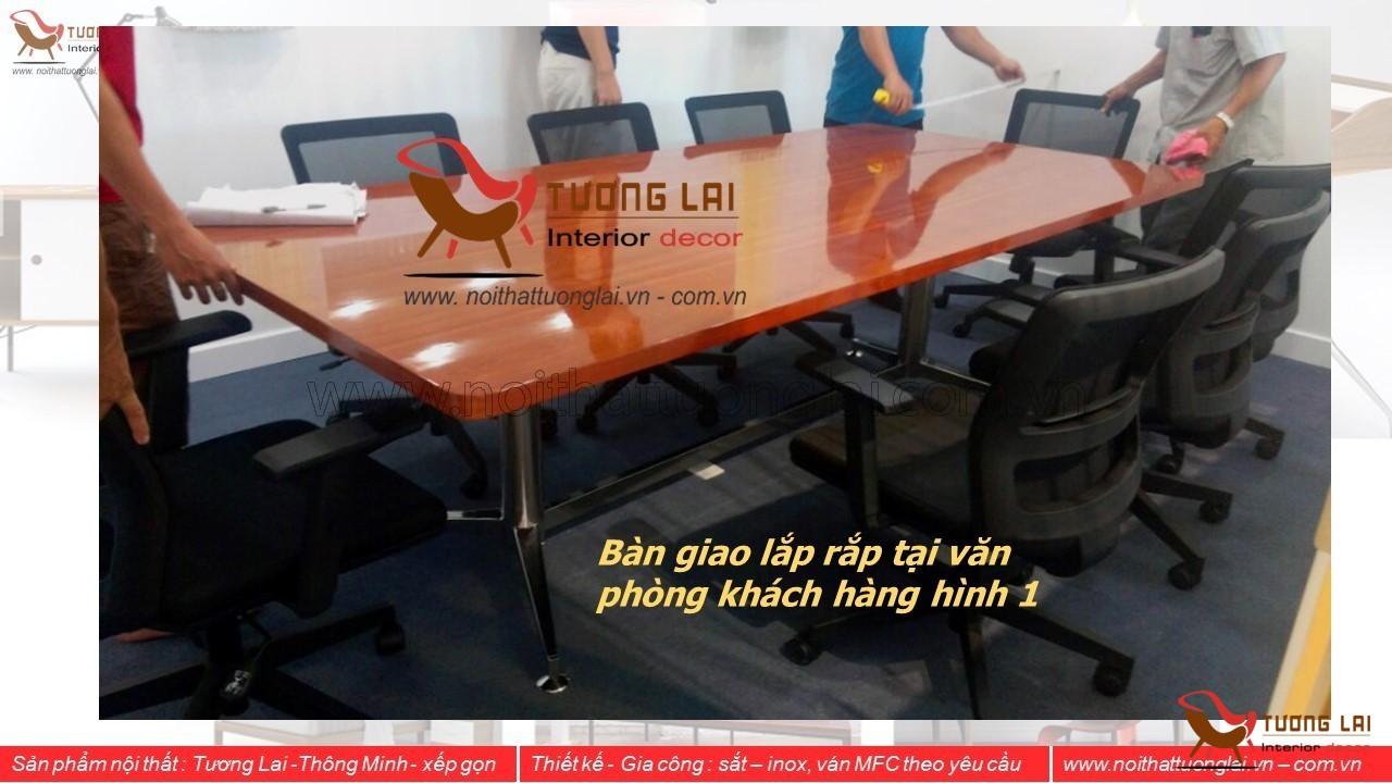 GIA CÔNG CHÂN BÀN HỌP INOX 01