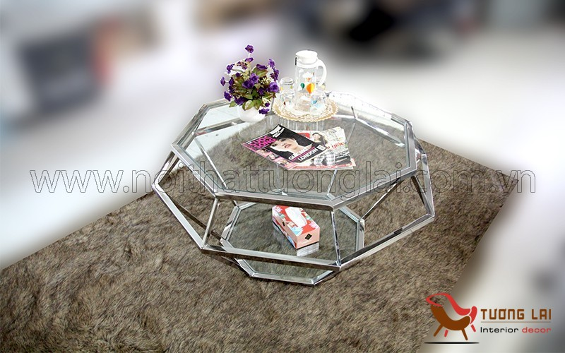 Gia công inox  bàn sofa viên kim cương